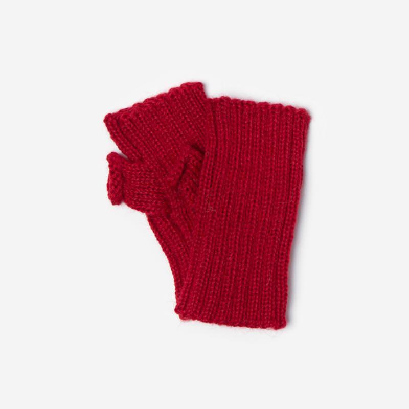 Kinder-Handstulpe Alpaka rot