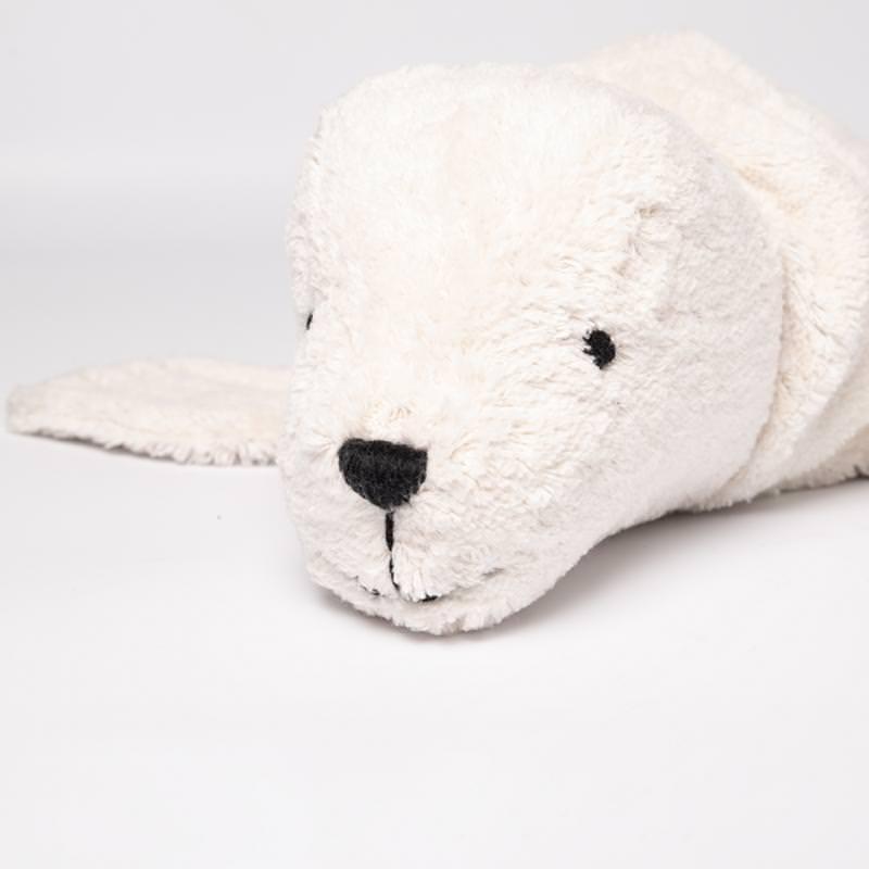 Kuscheltier Robbe weiß groß