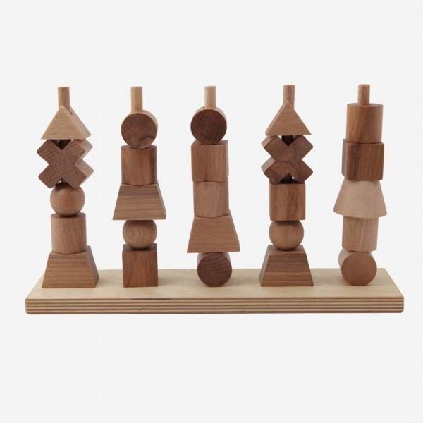Holz Steckspiel natur