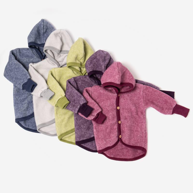 Baby Jacke Wolle/Baumwolle-Fleece