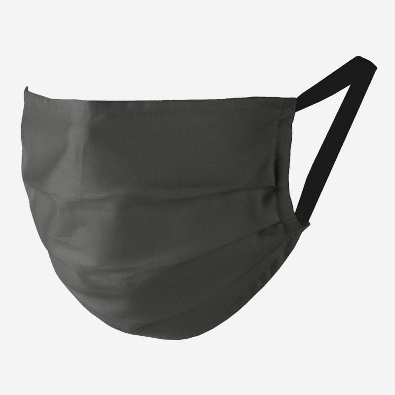 Maske Bio-Baumwolle schiefer 5er Pack