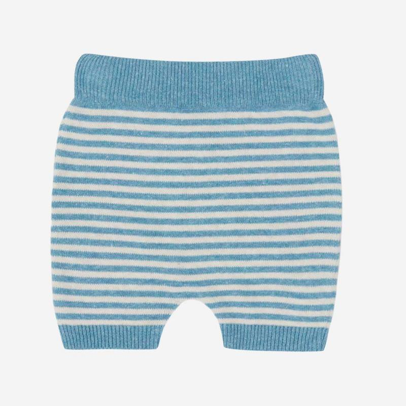 Shorts Baumwolle/Leinen bristol blue/natur