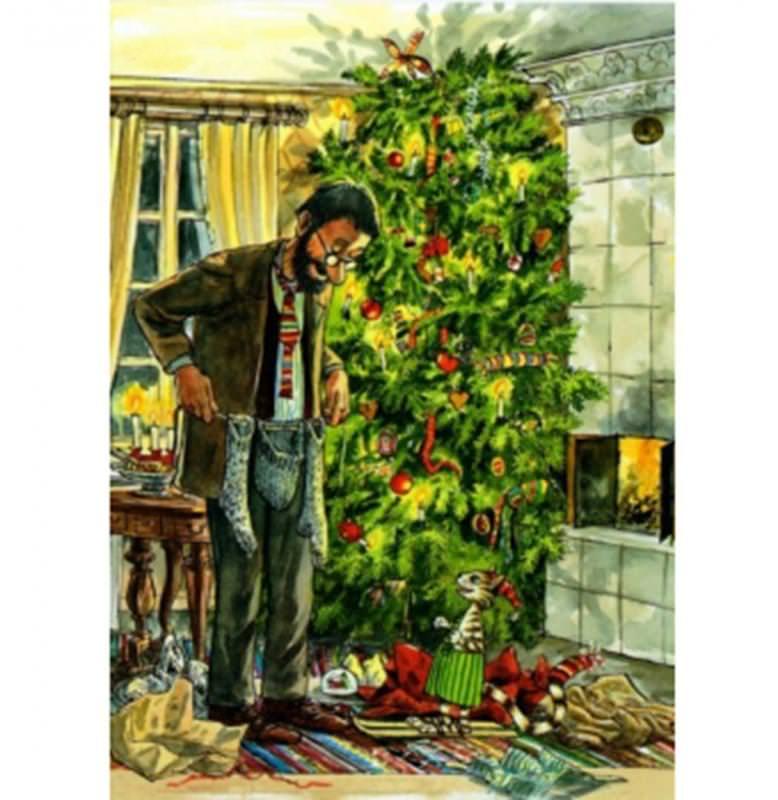Postkarte Petterssons Weihnachten