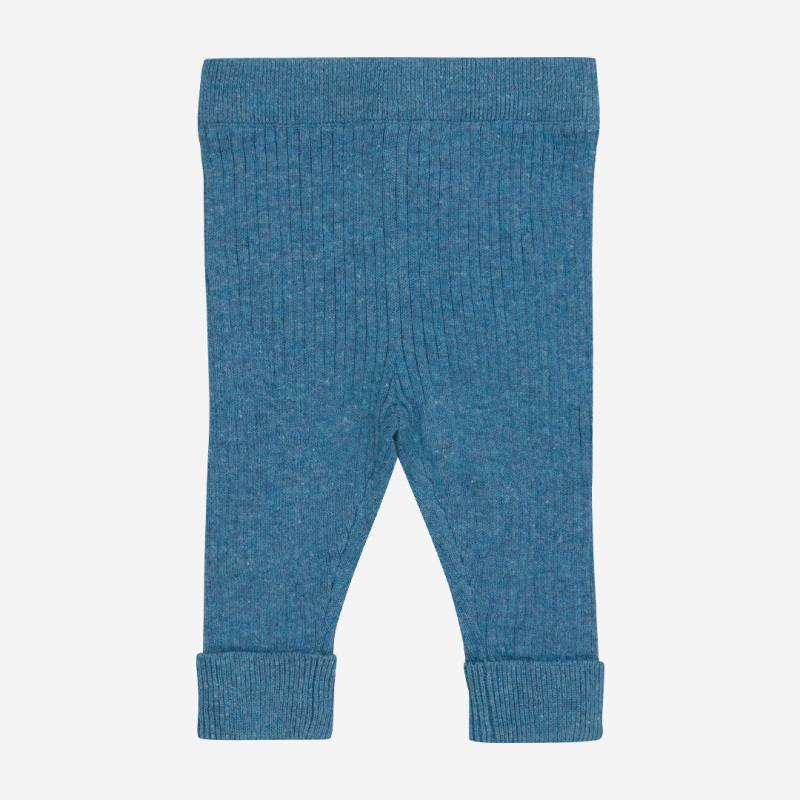 Pant Rib Babyhose von Puri Organics aus Bio-Baumwolle und Leinen in bristol blue