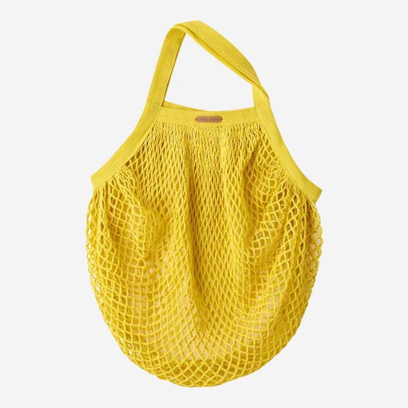 Netztasche aus Baumwolle lemon