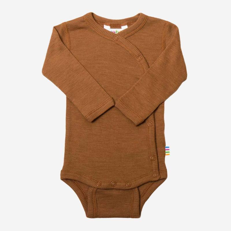 Baby Wickelbody von Joha aus Wolle/Seide in kupfer