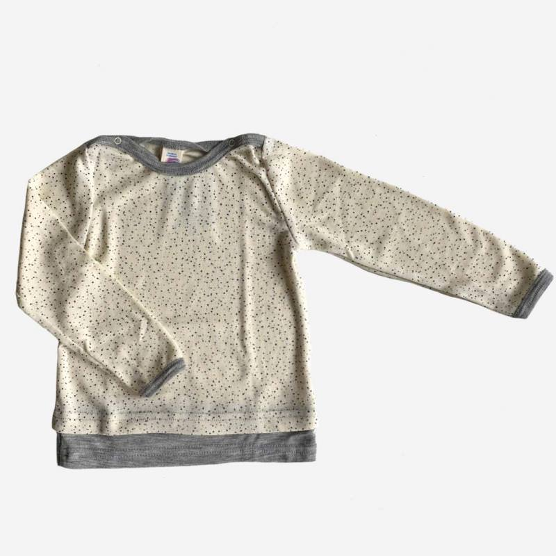Baby-Shirt Punkte Wolle/Seide