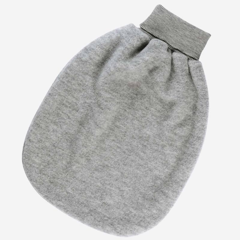 Baby Strampelsack Wollfleece von Engel in hellgrau melange