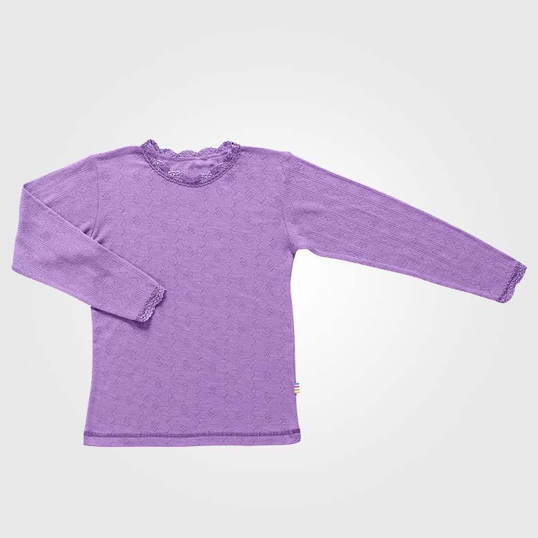Spitzen Unterhemd Wolle/Seide lila