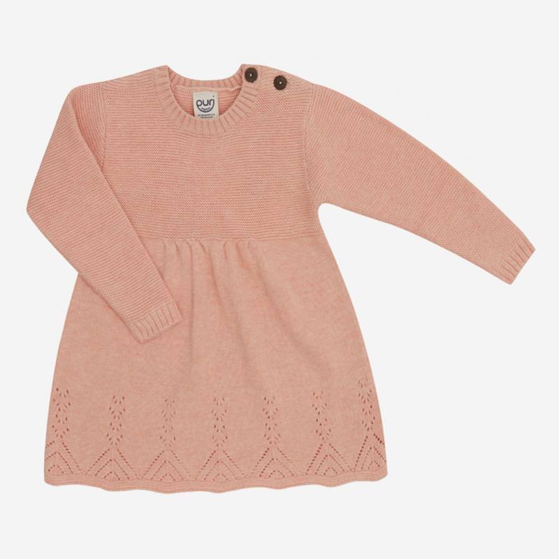 Kleid Ajour von Puri Organic aus Bio-Baumwolle/Wolle in peach