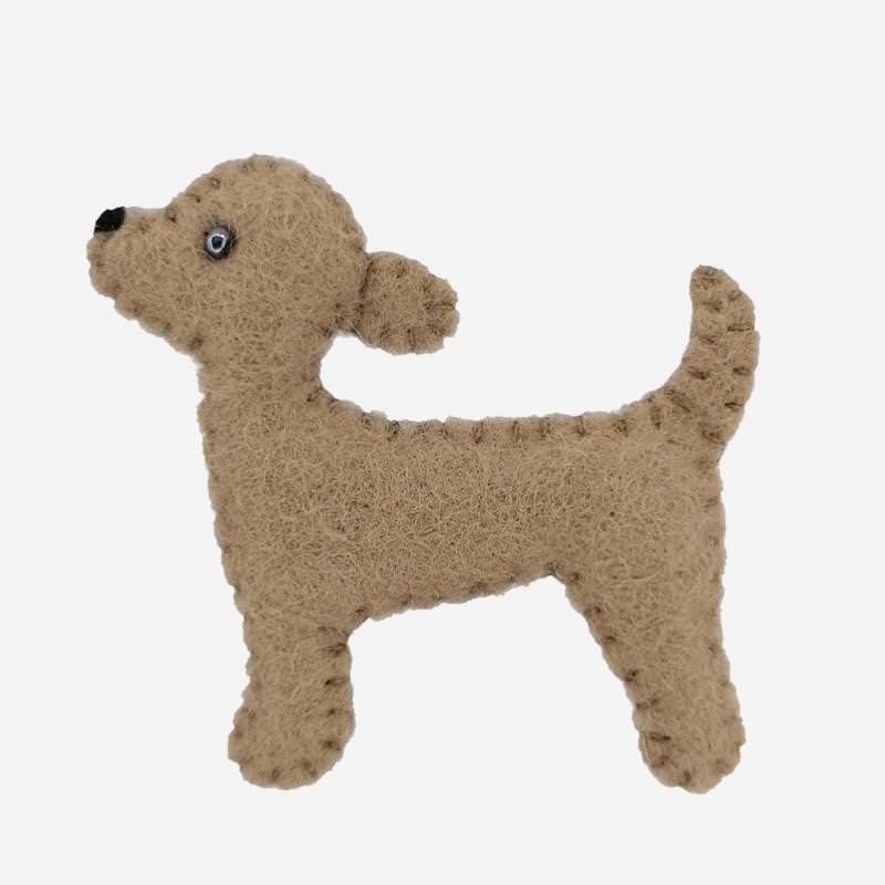 Kleine Filz Freunde Hund Bruno