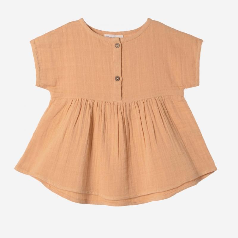 Tunika Shirt Farbenspiel ocker
