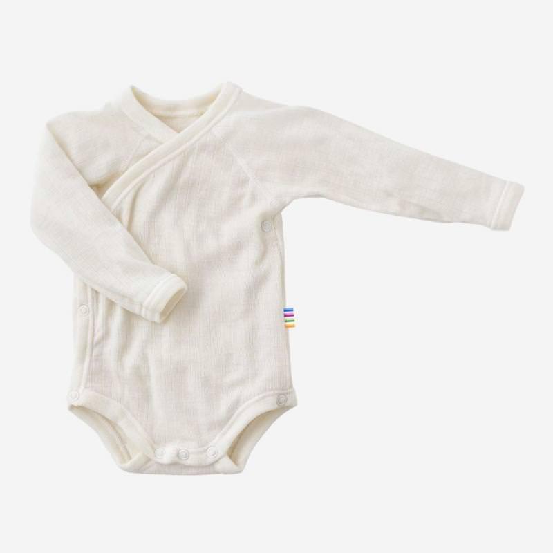 Baby Wickelbody von Joha aus Merinowolle in natur