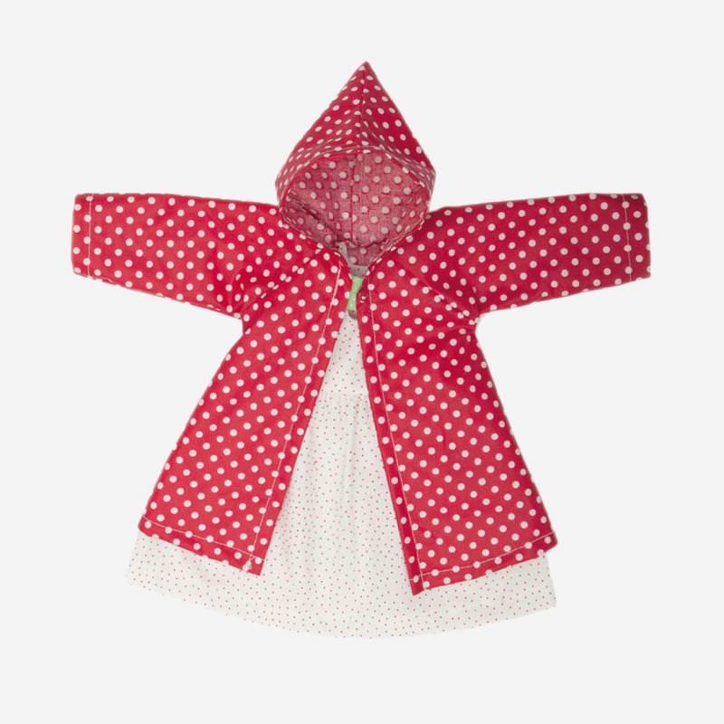 Puppen-Bekleidung Tupfenmantel