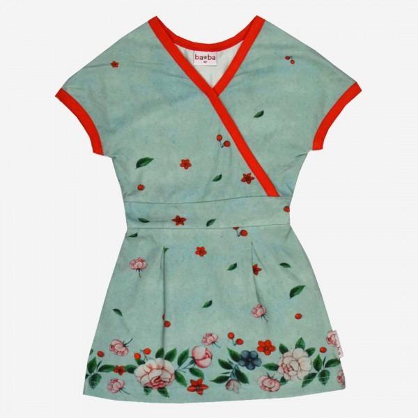 Kleid Blütentraum Kimonoschnitt