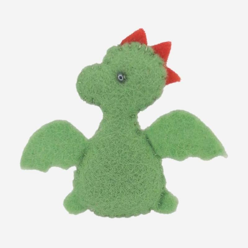 Kleine Filz Freunde grüner Drache