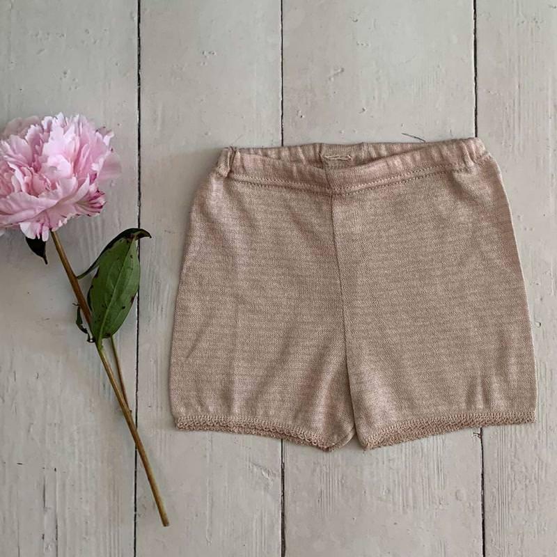 Kurze Hose Baumwolle/Seide beige