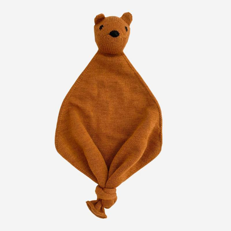 Baby Teddy Tokki von Hvid aus Merinowolle in rust