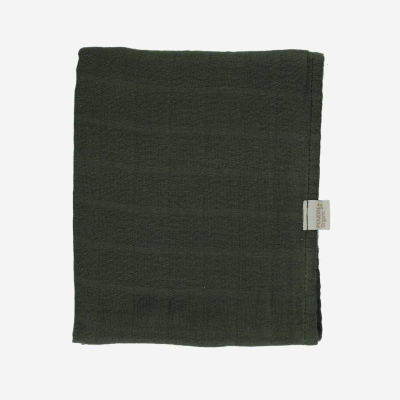 Musselin Tuch PAVOT forest green