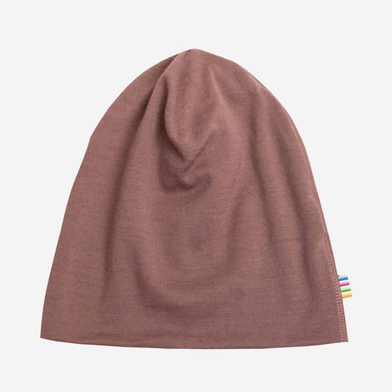 Mütze Merinowolle rosewood
