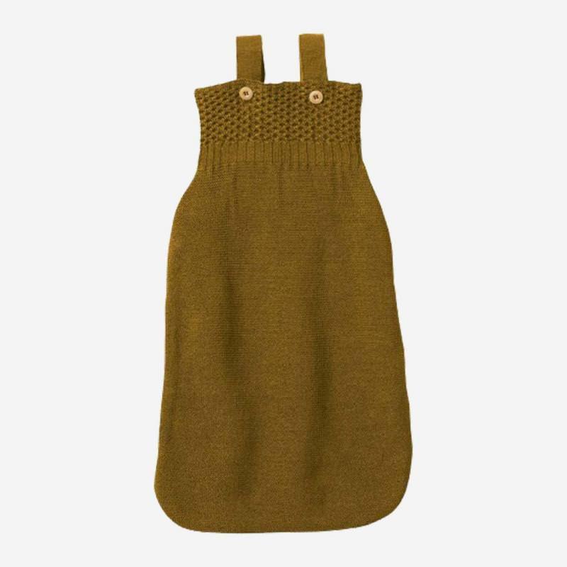 Strick Schlafsack Wolle gold