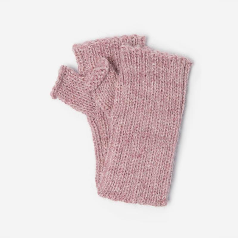 Kinder-Handstulpe Alpaka rosa meliert