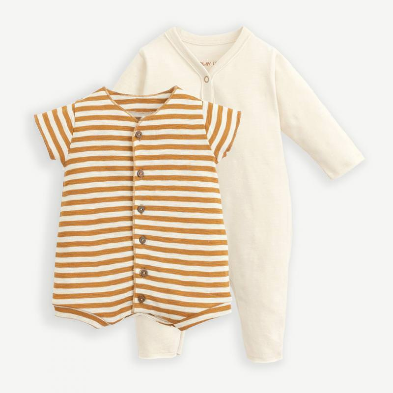Body Schlafanzug Set dandelion/hazel gelb