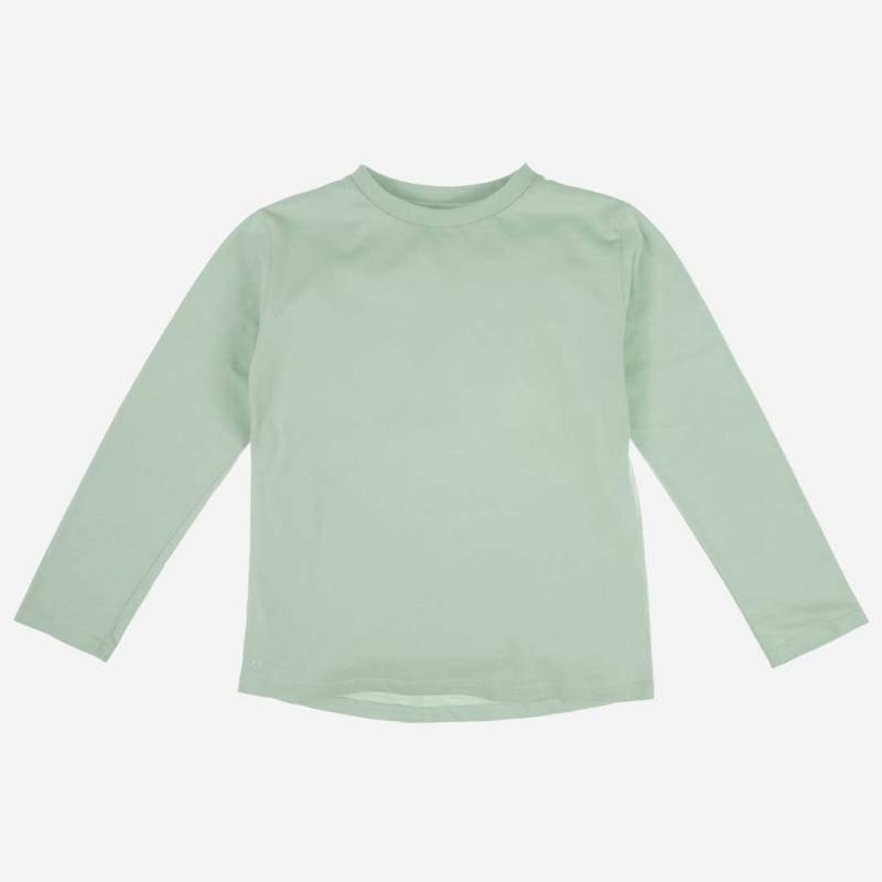 Long Sleeve Baumwolle aqua grey