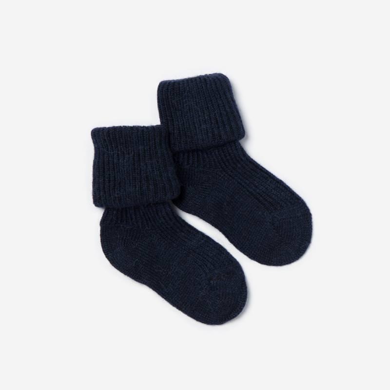 Baby Socken Alpaka marine