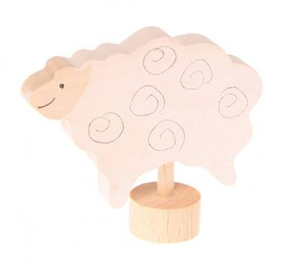 Figurenstecker stehendes Schaf