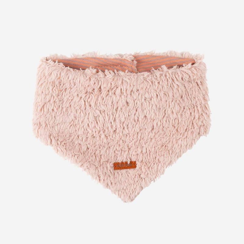 Baby Halstuch Baumwoll-Plüsch pink clay