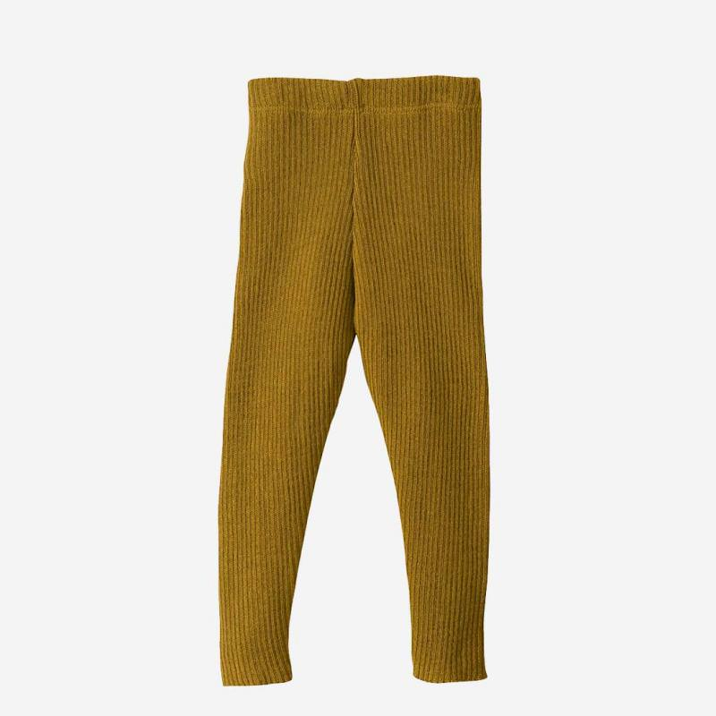 Strick Leggings Wolle gold