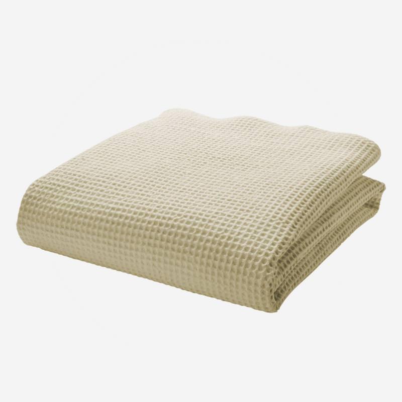 cotonea bio baumwolle handtuch saunatuch waffel piqué pikee natur weiss