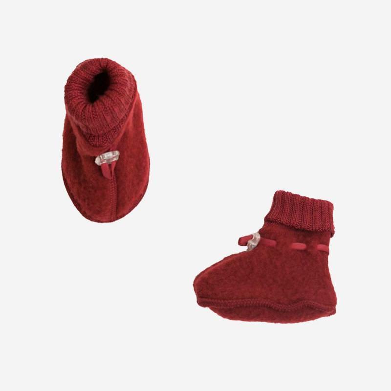 Schühchen Wollfleece rot