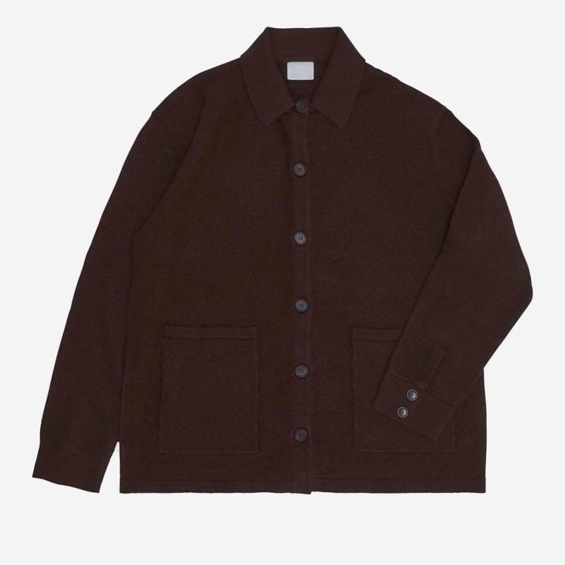 Damen Felted Jacket von FUB aus Wolle in walnut