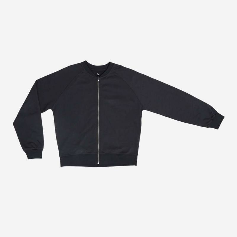 Women Zip-it-up Sweater von Orbasics aus Bio-Baumwolle cosmic black