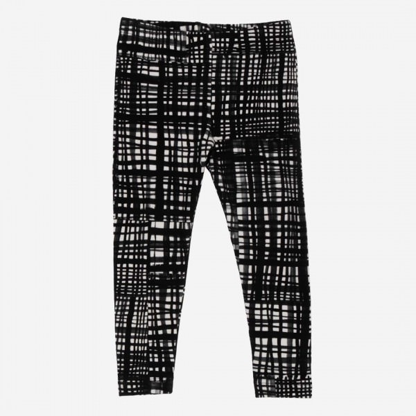 Kinder Leggings Black Net