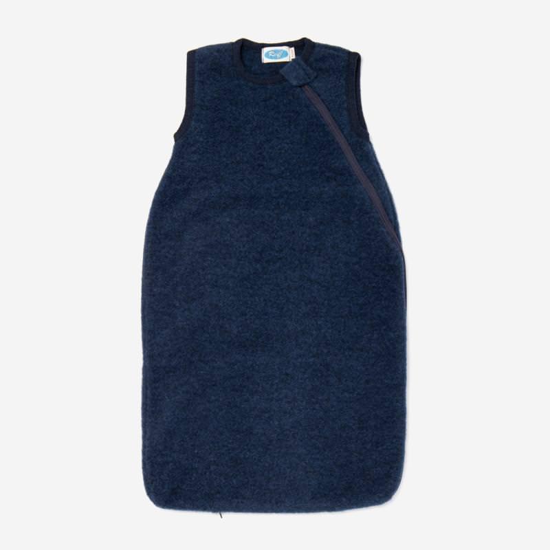 Baby Schlafsack von Reiff aus Wollfleece ohne Arm marine