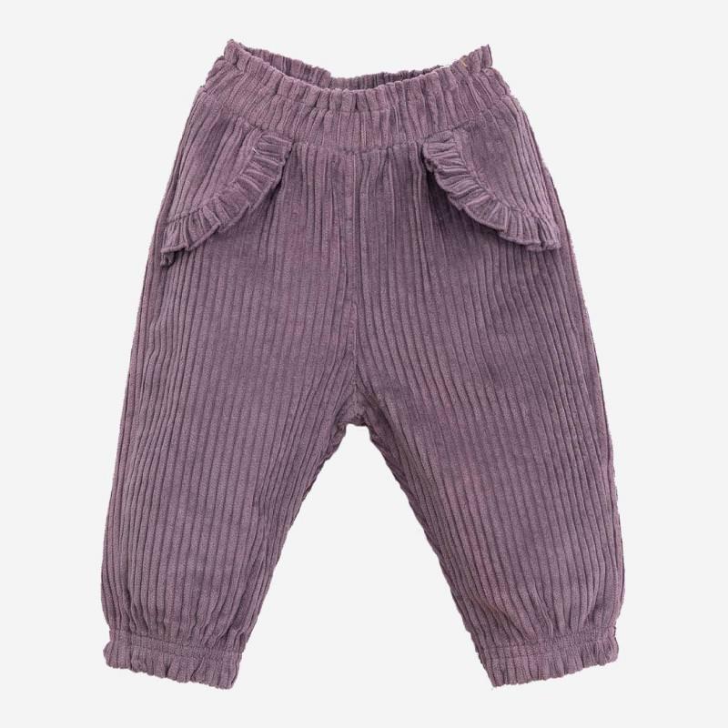 Baby Cord Hose von Play Up aus Bio-Baumwolle in lavander