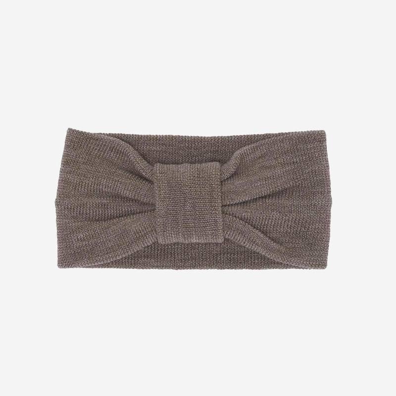 Stirnband aus Wolle beige melange FUB