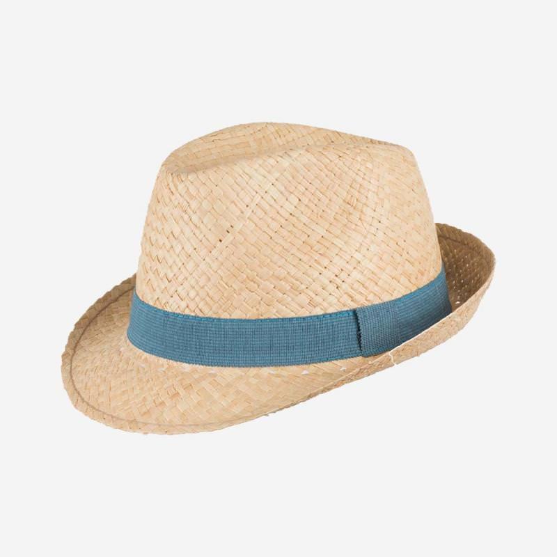 Strohhut mit blauem Band