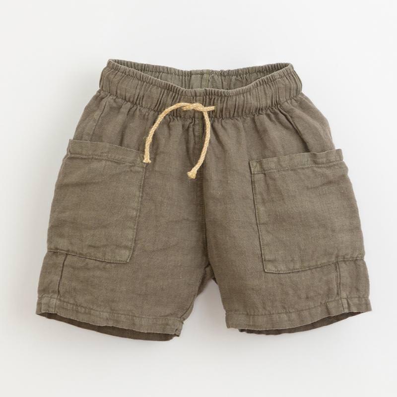 Shorts Leinen cocoon graugrün