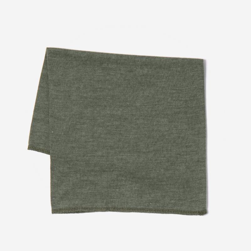 Schlauchschal Wolle/Seide olive
