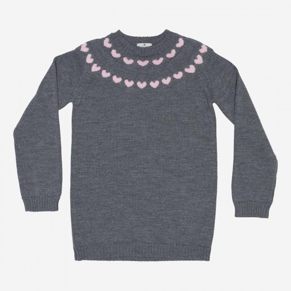 Pullover Herzen Merinowolle