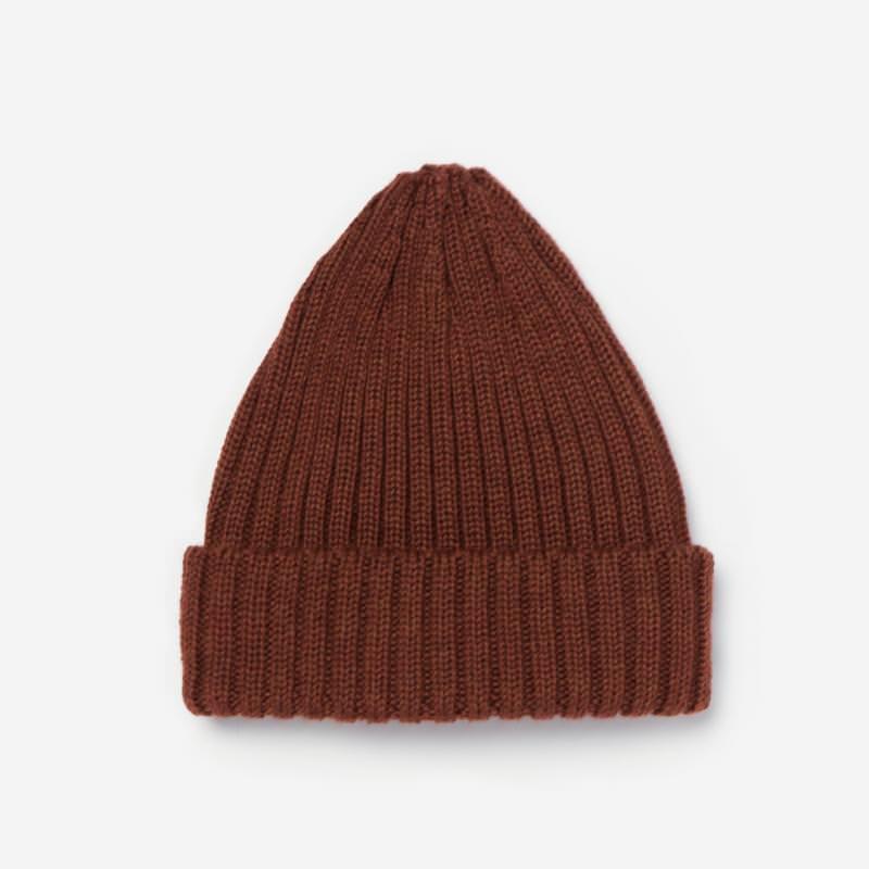 Mütze Wolle bronze