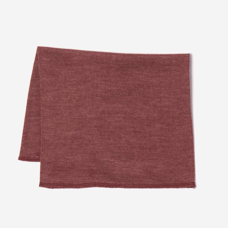 Schlauchschal Wolle/Seide kupfer