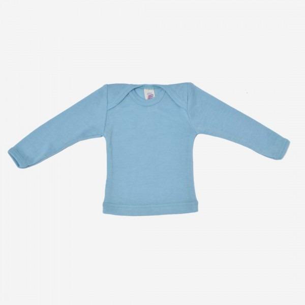 Baby Schlupfhemd Wolle/Seide pastell