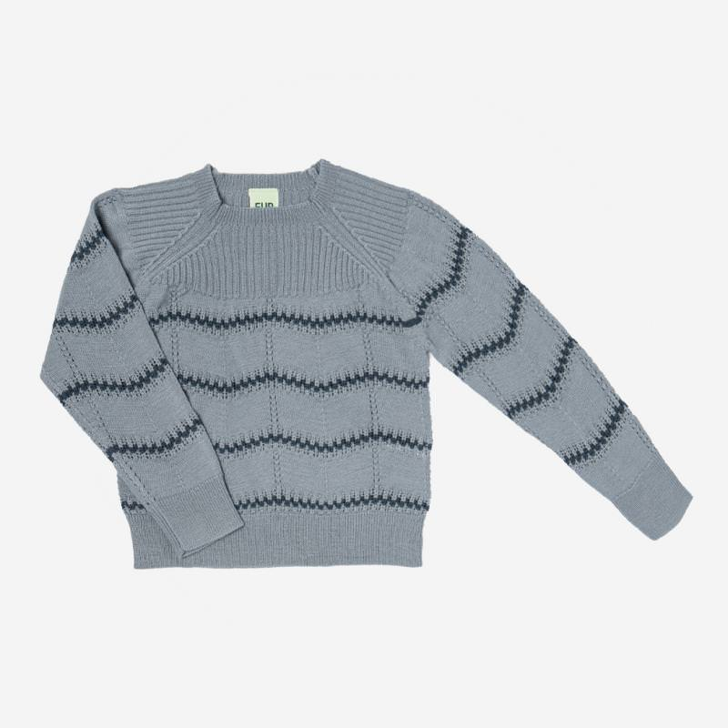 Pullover Pointelle Wolle dusty green