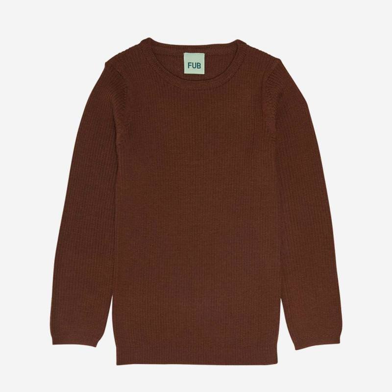 Rib Pullover Wolle umber
