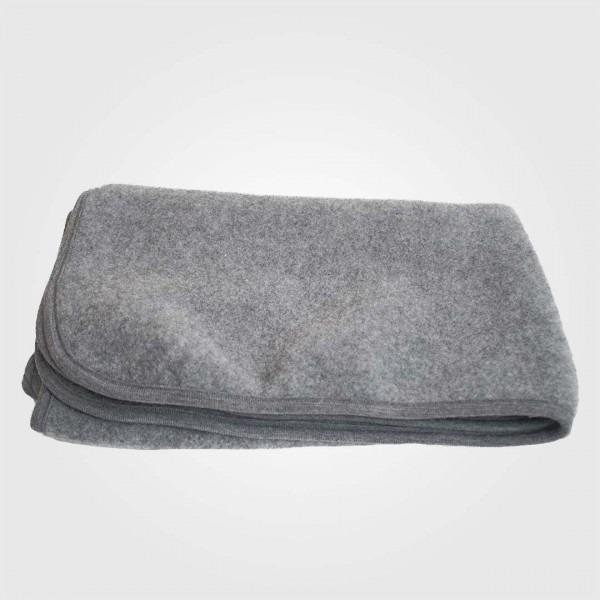 Baby Decke Wollfleece grau